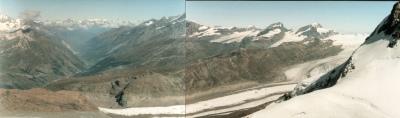 Looking down to Zermatt