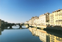 The Arno mirrors its banks, as seen from P V