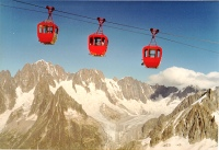 In the mountains:  By Cable Car