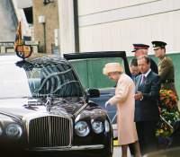 The Queen enters new Bentley