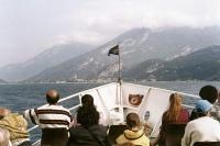 On a boat on Lake Garda