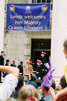 City and people of Leeds Welcome The Queen