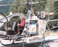 The tiny Helicopter I flew around Mont Blanc