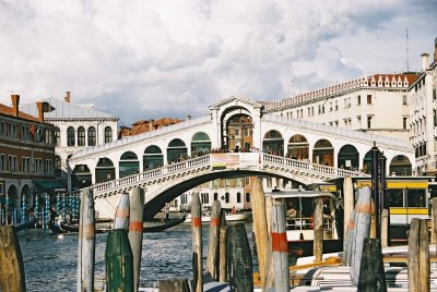 The Rialto Bridge, viewed from the babk Opposite San Marco