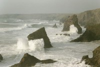 A rough sea at Bedruthan Steps, Newquay