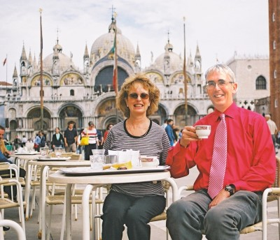 Birthday Coffee Piazza San Marco, October 2003