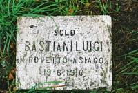 A commemorative stone to WW1 soldier